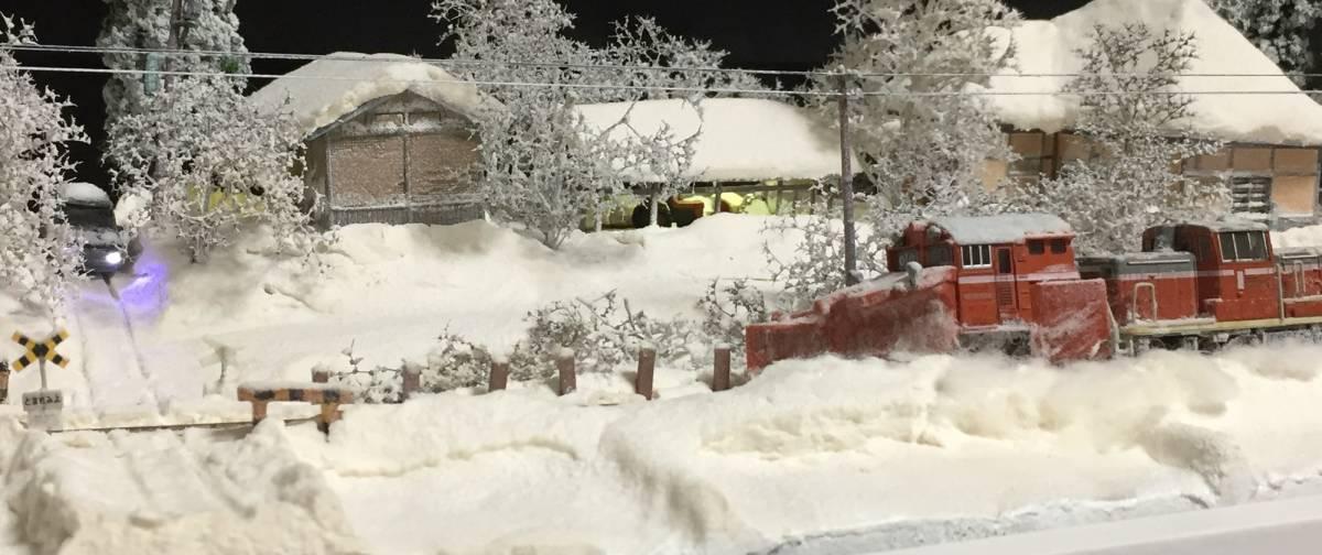 全自動車両往復走行展示台 ジオラマ 深雪 農家 液晶表示 リモコン操作 アクリルケース