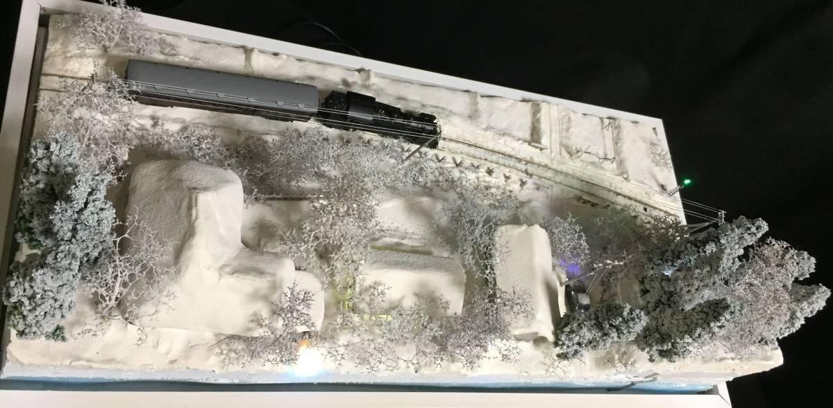 全自動車両往復走行展示台 ジオラマ 深雪 農家 液晶表示 リモコン操作 アクリルケース_画像7