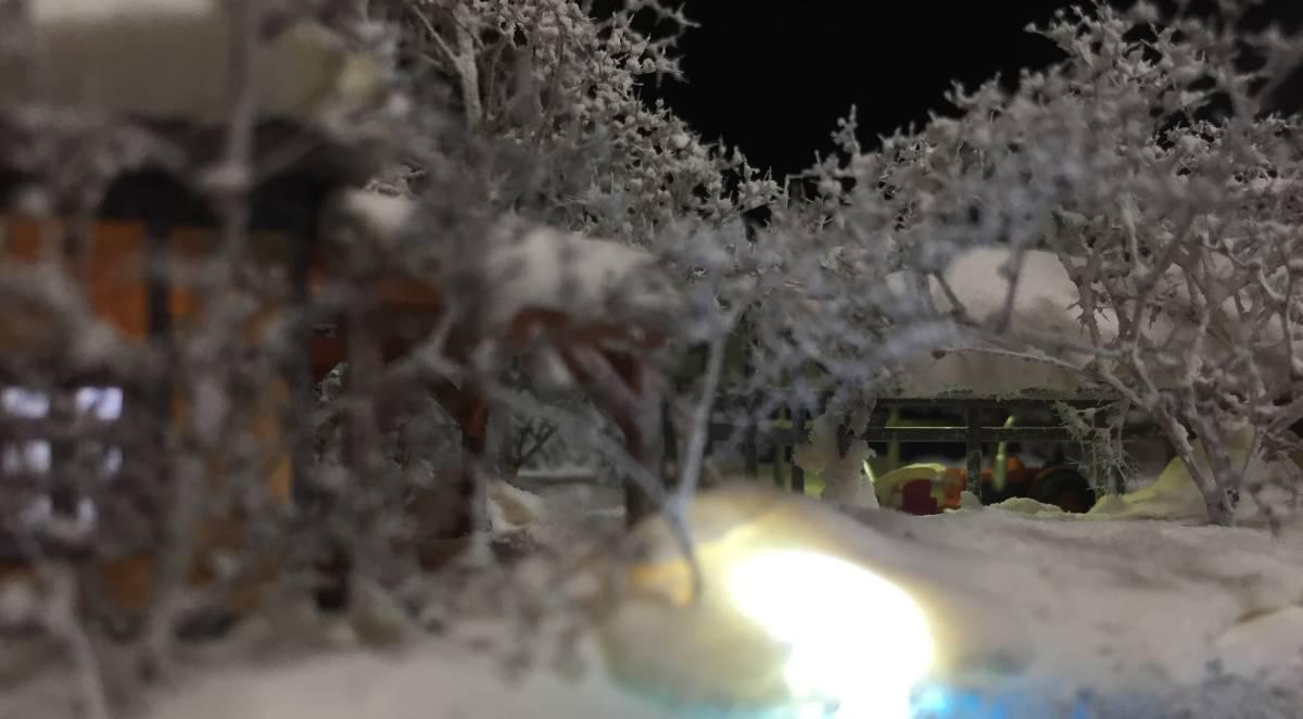 全自動車両往復走行展示台 ジオラマ 深雪 農家 液晶表示 リモコン操作 アクリルケース_画像8