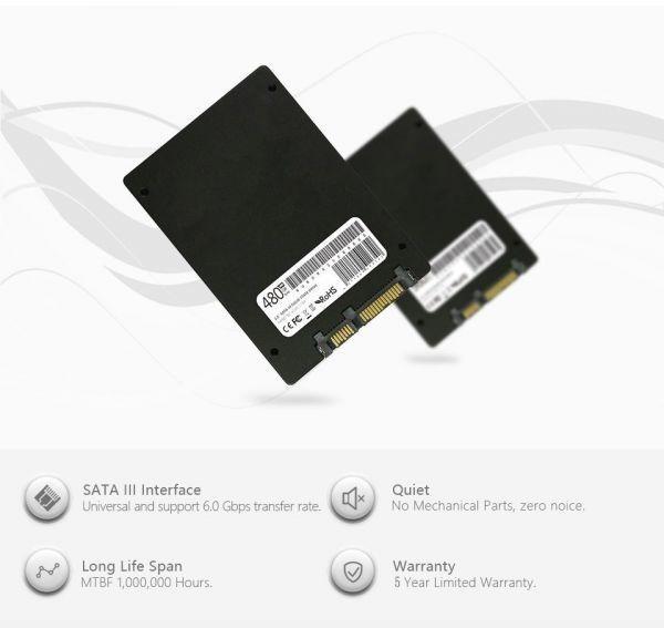 ★最安 安心の国内対応★SSD LONDISK 120GB SATA3 / 6.0Gbps ケーブル付き 新品未開封 2.5インチ 3D NAND TLC 内蔵型_画像5