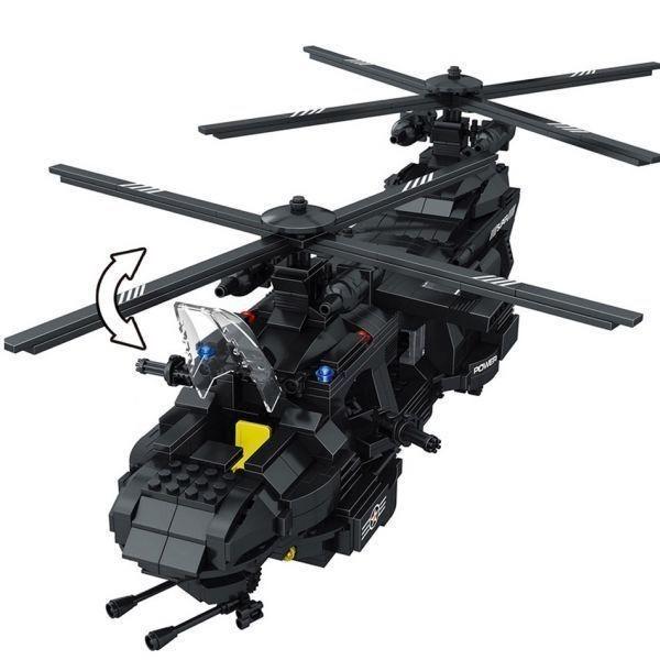 ★最安 安心の国内対応★LEGO レゴ 互換 SWAT 特殊部隊 全長52cm 大型 ヘリコプター + ボート ミニフィグ付き QL0108_画像7