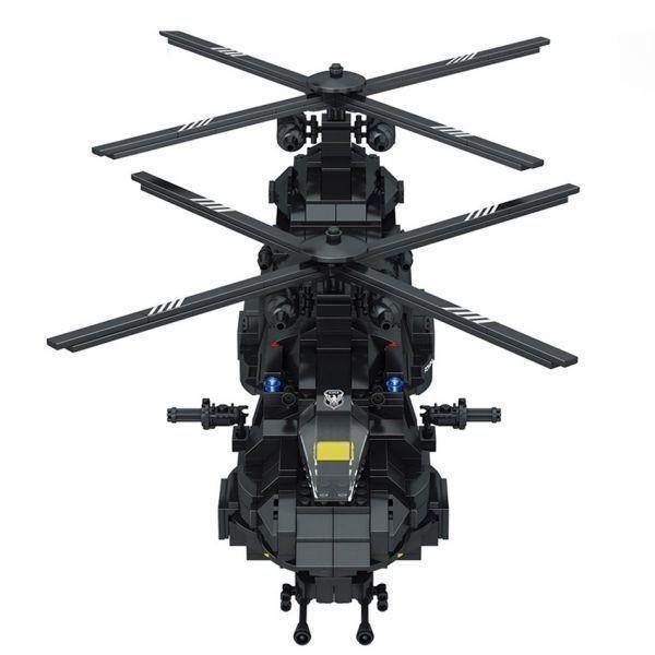 ★最安 安心の国内対応★LEGO レゴ 互換 SWAT 特殊部隊 全長52cm 大型 ヘリコプター + ボート ミニフィグ付き QL0108_画像3