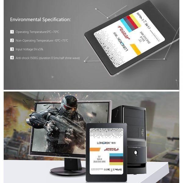 ★最安 安心の国内対応★SSD LONDISK 120GB SATA3 / 6.0Gbps ケーブル付き 新品未開封 2.5インチ 3D NAND TLC 内蔵型_画像6
