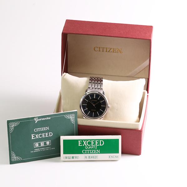 1円~ CITIZEN シチズン エクシード 0331-T005578 クオーツ メンズ 腕時計 中古_画像4