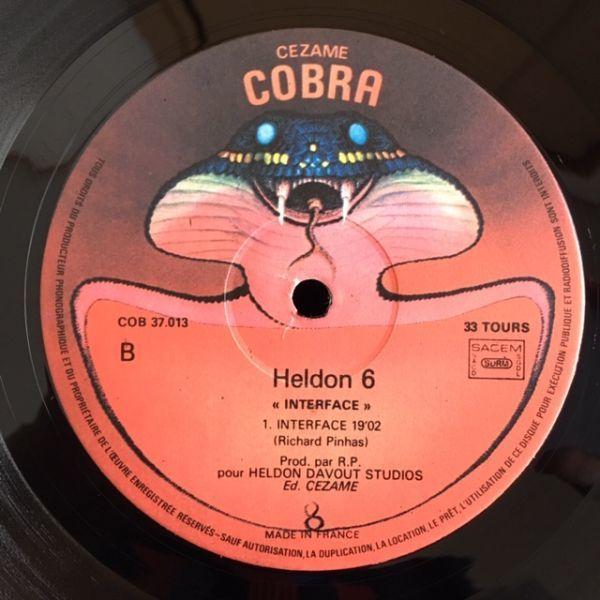 【仏 原盤】Heldon.6./Interface【COBRA 37.013】見開きジャケット_画像10