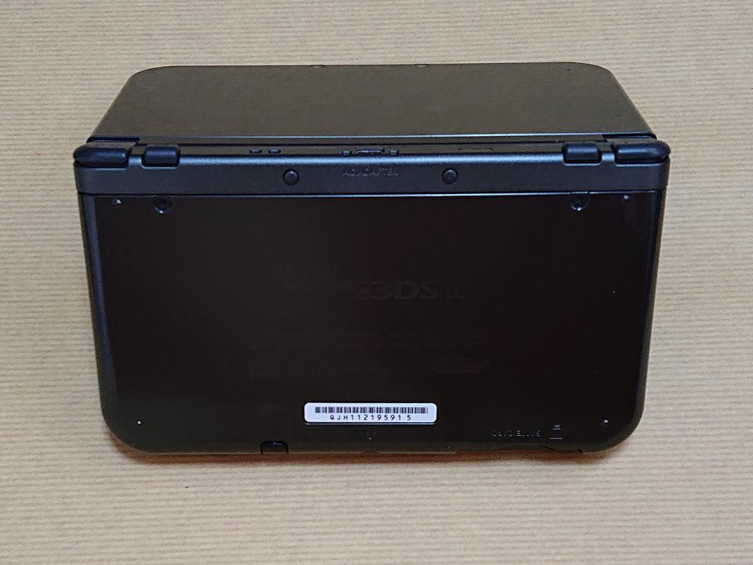 NEW NINTENDO ニンテンドー3DS LL メタリックブラック 使用頻度薄 ファイアーエムブレム聖戦の系譜付き_画像3