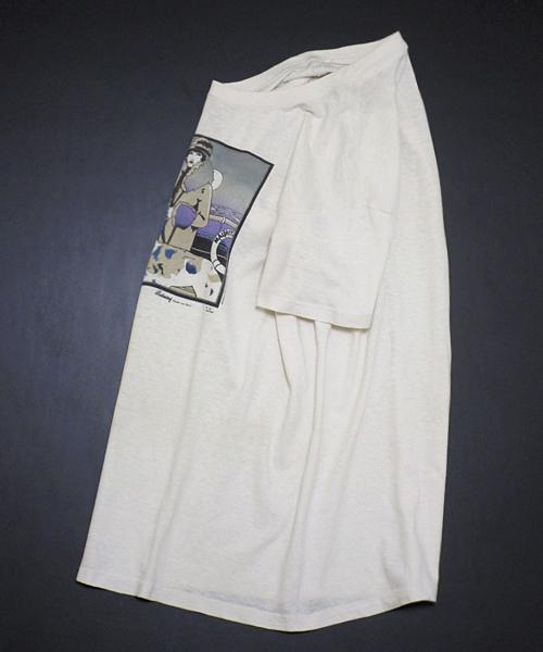 70'sビンテージ ! USA シルクスクリーン モダン・アート 多色プリント 半袖 Tシャツ♪ エッシャー ランタグ 単色 フランス 80s 90s_画像8