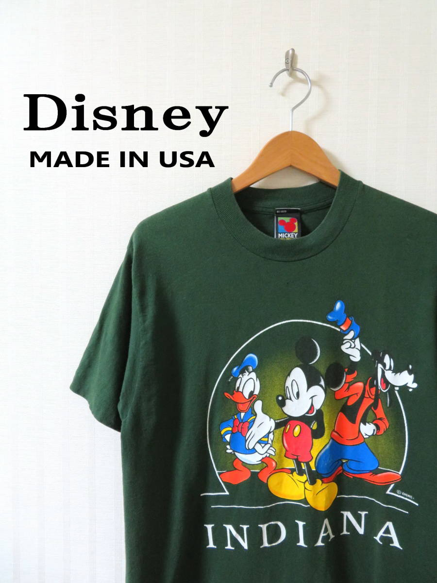 90s ディズニー ★ USA製 ミッキー ドナルド グーフィー 半袖 Tシャツ M ★ Disney アメリカ 古着 ヴィンテージ