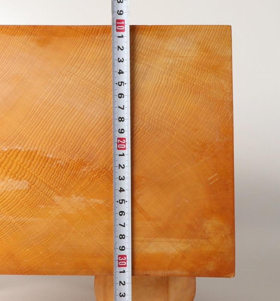 ■良品『棋聖 小林覚サイン』 本榧柾目 7寸碁盤 厚さ21.5㎝ 盤覆付(囲碁)■_画像2