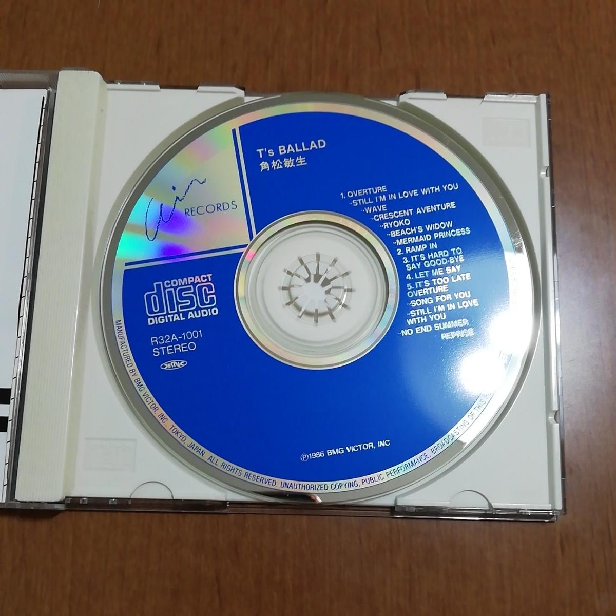 中古CD T's BALLAD 角松敏生_画像2