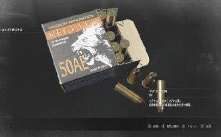 マルイ BIO Re2 設定資料 ? マグナム弾 50AE 箱 ライトニング ホーク 検 デザート イーグル バイオハザード Re2 Resident Evil 2_画像5