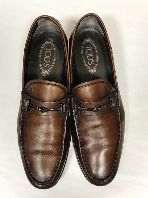 トッズ TOD'S メンズ アンティーク パティーヌ ビットローファー 革靴 ビジネスシューズ レザーシューズ ローファー ドライビングシューズ_画像3