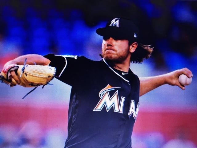 2018 MLB メジャーリーグ MLB公認証明付 実使用 本物 ディロン ピーターズ Peters マイアミ マーリンズ ユニフォーム 大谷 翔平 僚 angels_画像5