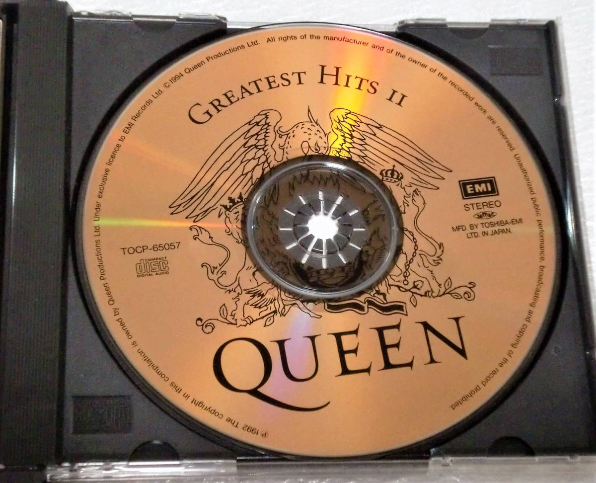 CD QUEEN GREATEST HITS Ⅰ&Ⅱ/クイーン グレイテストヒッツ Ⅰ&Ⅱ/TOCP-65056・57/2枚組/34曲_画像8