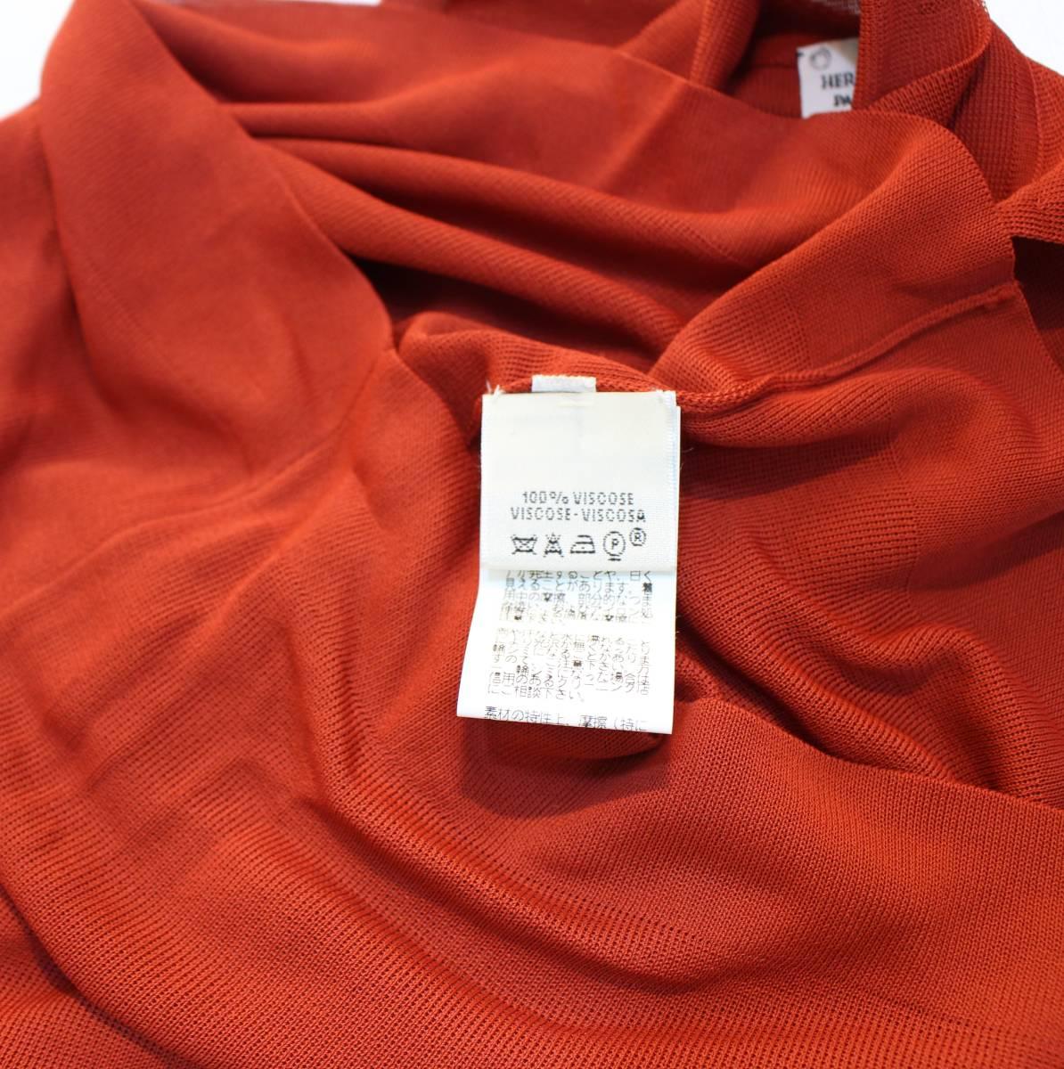 HERMES MADE BY Margiela AMERICAN SLEEVE SHIRT MADE IN ITALY/エルメスマルジェラ期アメリカンスリーブシャツ_画像6