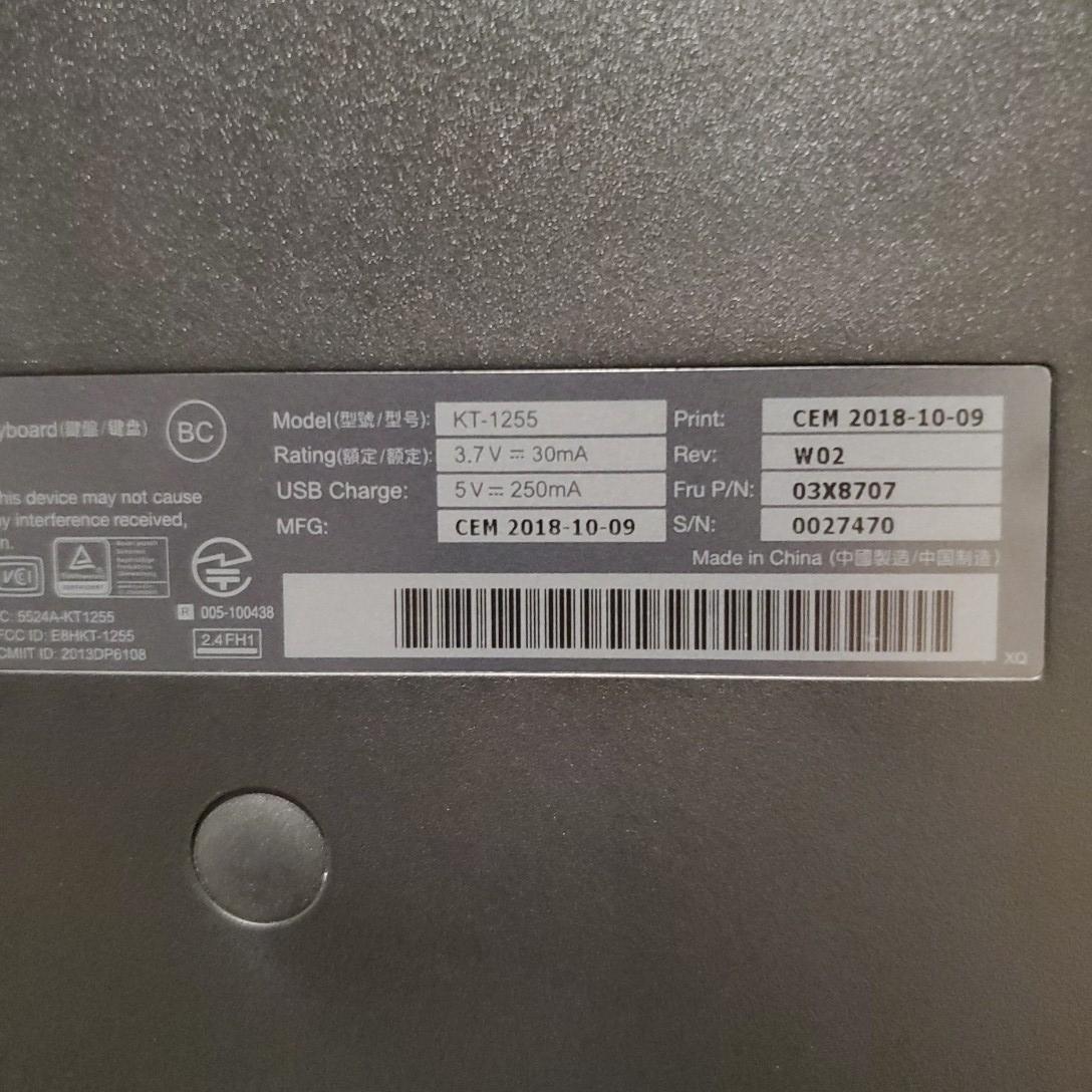 Lenovo ThinkPad ワイヤレスキーボード Bluetooth _画像4