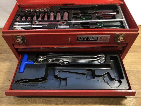 KTC HIGHEST QUALITY TOOLS 工具セット SKX1000 シリーズ ツールボックス / No. SKX1202 欠品あり 詳細不明 現状品_画像5