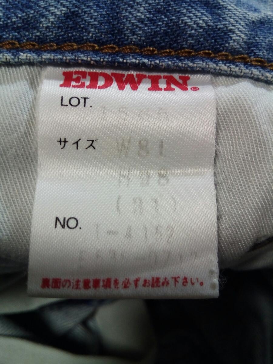即決☆送料無料☆エドウィン☆USED加工☆ルーズ☆ストレート☆ジーンズ☆ウエスト約78cm☆31☆デニム☆ボトムス☆メンズ☆EDWIN☆