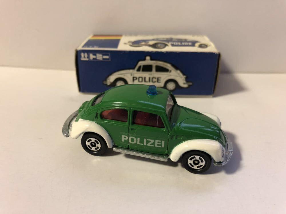レア物 青箱トミカ 外国車シリーズ F70-1-4 フォルクスワーゲン ポリスカー 当時物 ワーゲンフェア特注品 _画像2