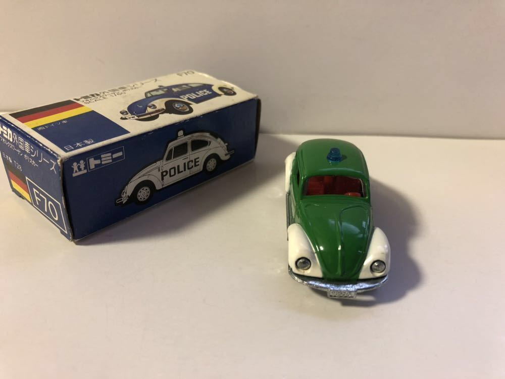 レア物 青箱トミカ 外国車シリーズ F70-1-4 フォルクスワーゲン ポリスカー 当時物 ワーゲンフェア特注品 _画像3