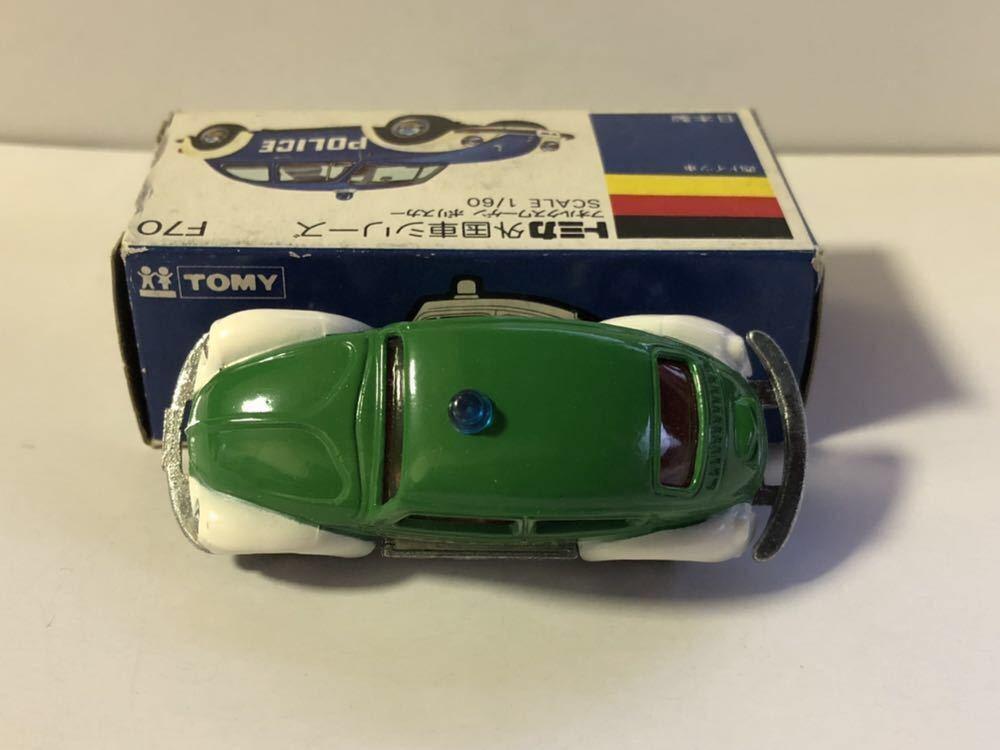 レア物 青箱トミカ 外国車シリーズ F70-1-4 フォルクスワーゲン ポリスカー 当時物 ワーゲンフェア特注品 _画像5