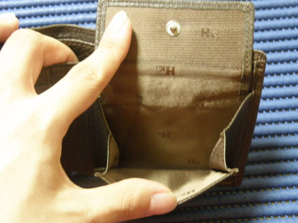 ◆J1◆ コシノヒロコ HIROKO KOSHINO 二つ折り 財布 状態良好 定形外郵便 クリックポスト_画像6