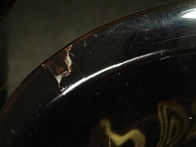 時代漆芸 黒漆本金蒔絵流水金魚図椀 盃洗 杯洗 一対_画像5