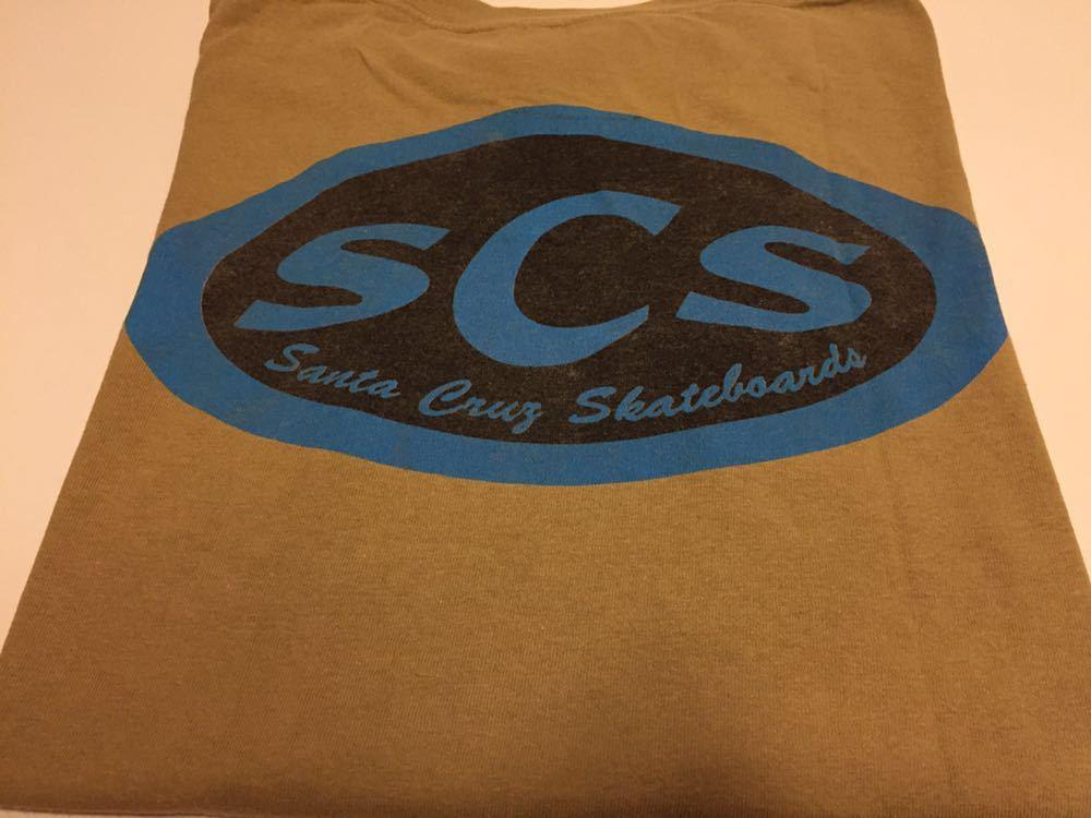 90s 初頭 USA製 santa cruz scs サンタクルーズ ロゴ tシャツ 両面 BELTON VINTAGE size M ビンテージ_画像6