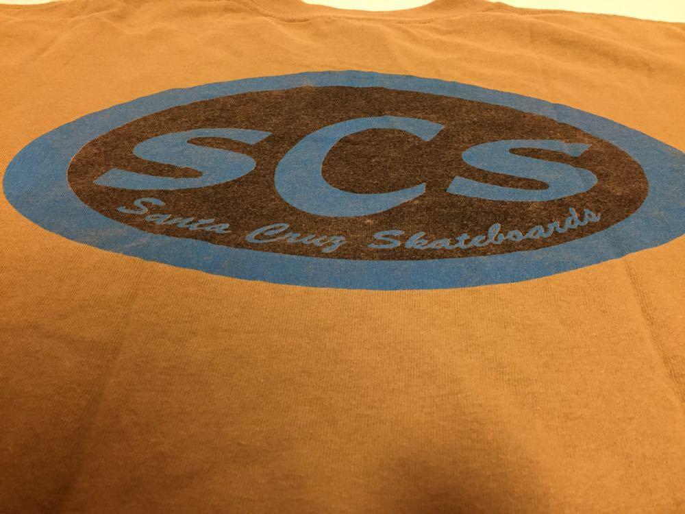 90s 初頭 USA製 santa cruz scs サンタクルーズ ロゴ tシャツ 両面 BELTON VINTAGE size M ビンテージ_画像8