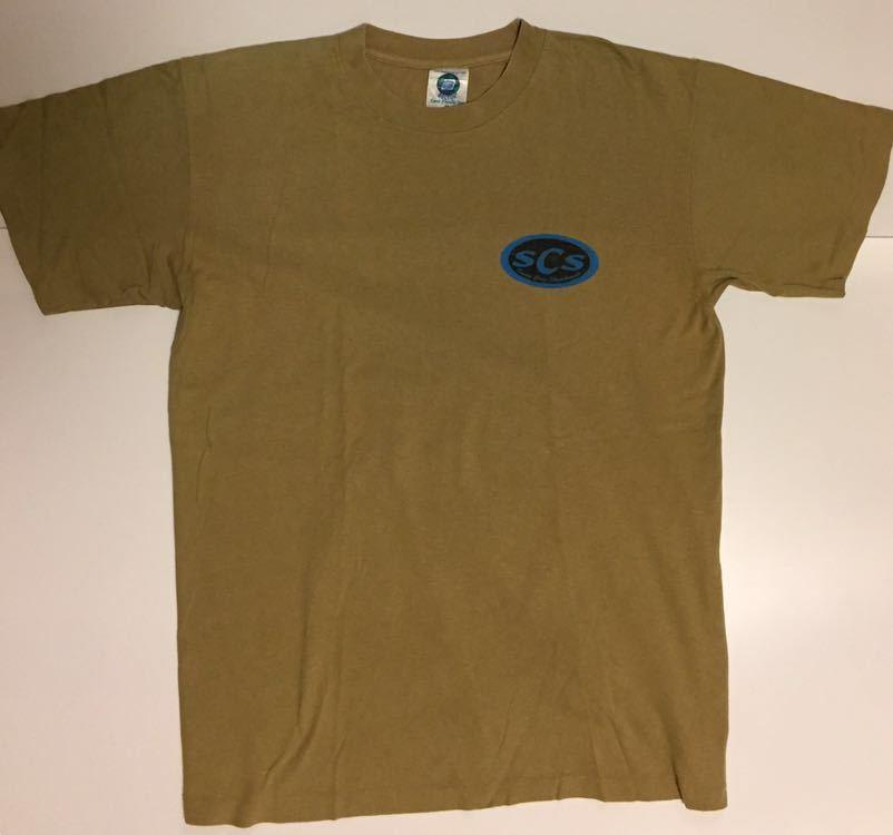 90s 初頭 USA製 santa cruz scs サンタクルーズ ロゴ tシャツ 両面 BELTON VINTAGE size M ビンテージ_画像4