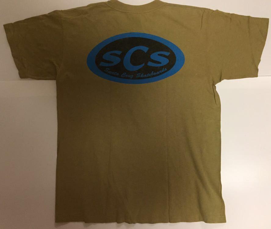 90s 初頭 USA製 santa cruz scs サンタクルーズ ロゴ tシャツ 両面 BELTON VINTAGE size M ビンテージ_画像2