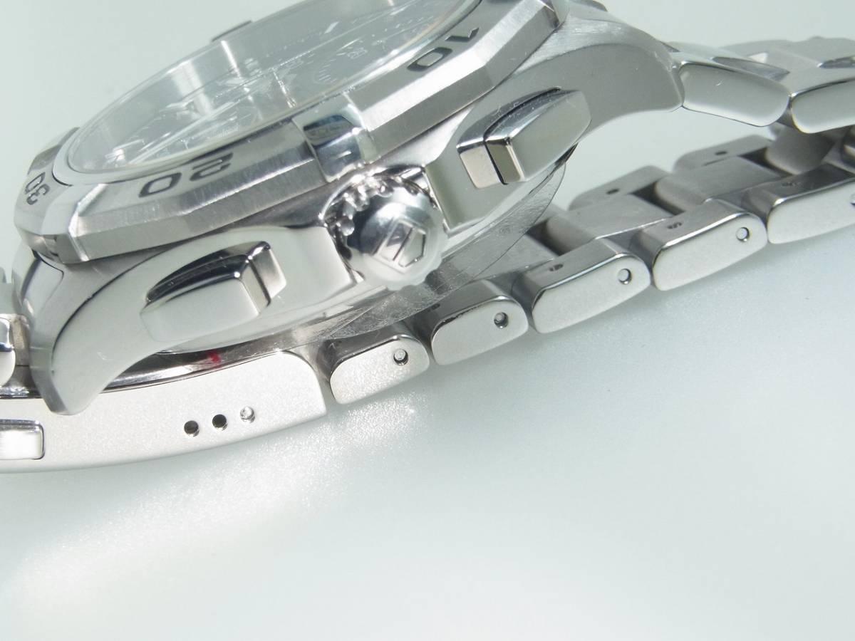 極美品 TAG HEUER タグホイヤー CAP2110 アクアレーサー クロノグラフ SS デイト 自動巻 メンズ 腕時計 キャリバー16 黒文字盤 稼働品   _画像3