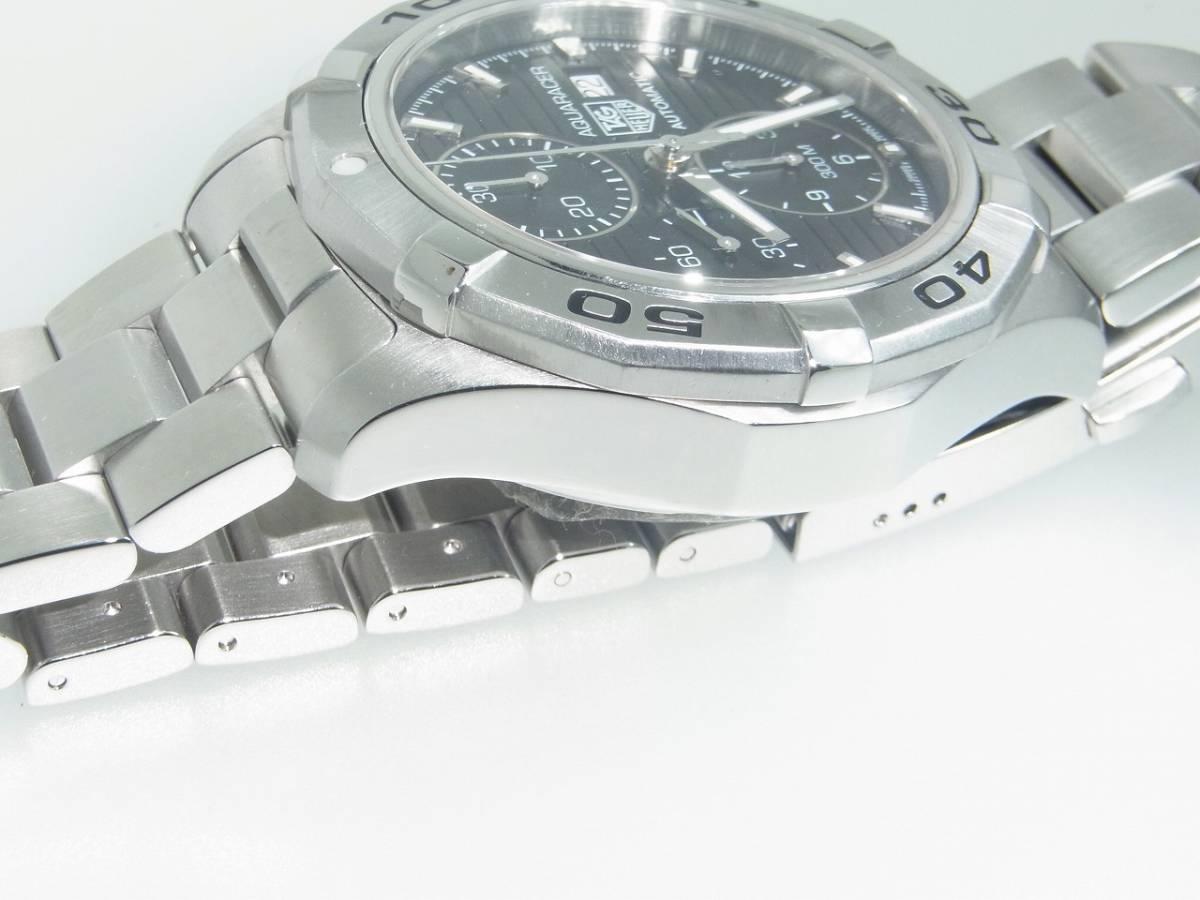 極美品 TAG HEUER タグホイヤー CAP2110 アクアレーサー クロノグラフ SS デイト 自動巻 メンズ 腕時計 キャリバー16 黒文字盤 稼働品   _画像2