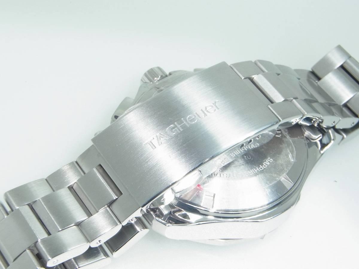 極美品 TAG HEUER タグホイヤー CAP2110 アクアレーサー クロノグラフ SS デイト 自動巻 メンズ 腕時計 キャリバー16 黒文字盤 稼働品   _画像6