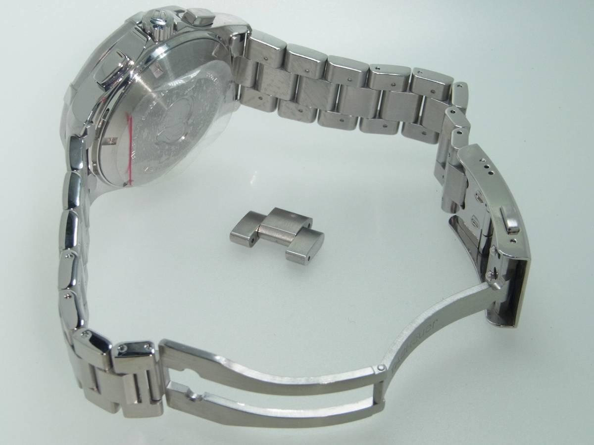 極美品 TAG HEUER タグホイヤー CAP2110 アクアレーサー クロノグラフ SS デイト 自動巻 メンズ 腕時計 キャリバー16 黒文字盤 稼働品   _画像4