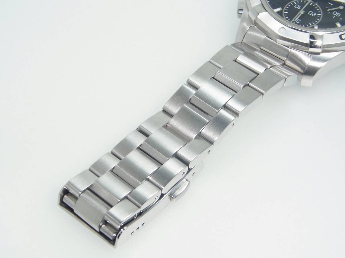 極美品 TAG HEUER タグホイヤー CAP2110 アクアレーサー クロノグラフ SS デイト 自動巻 メンズ 腕時計 キャリバー16 黒文字盤 稼働品   _画像9