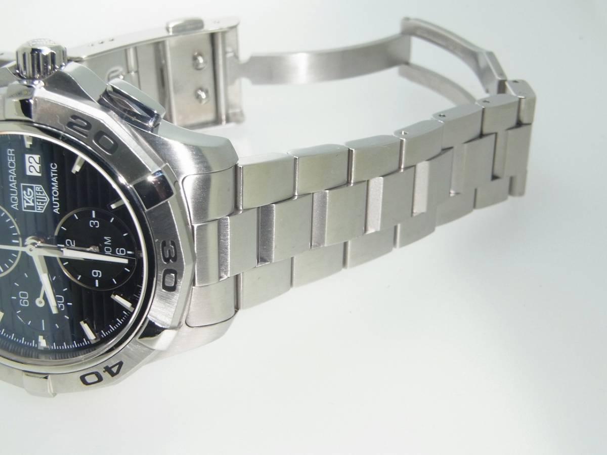 極美品 TAG HEUER タグホイヤー CAP2110 アクアレーサー クロノグラフ SS デイト 自動巻 メンズ 腕時計 キャリバー16 黒文字盤 稼働品   _画像8