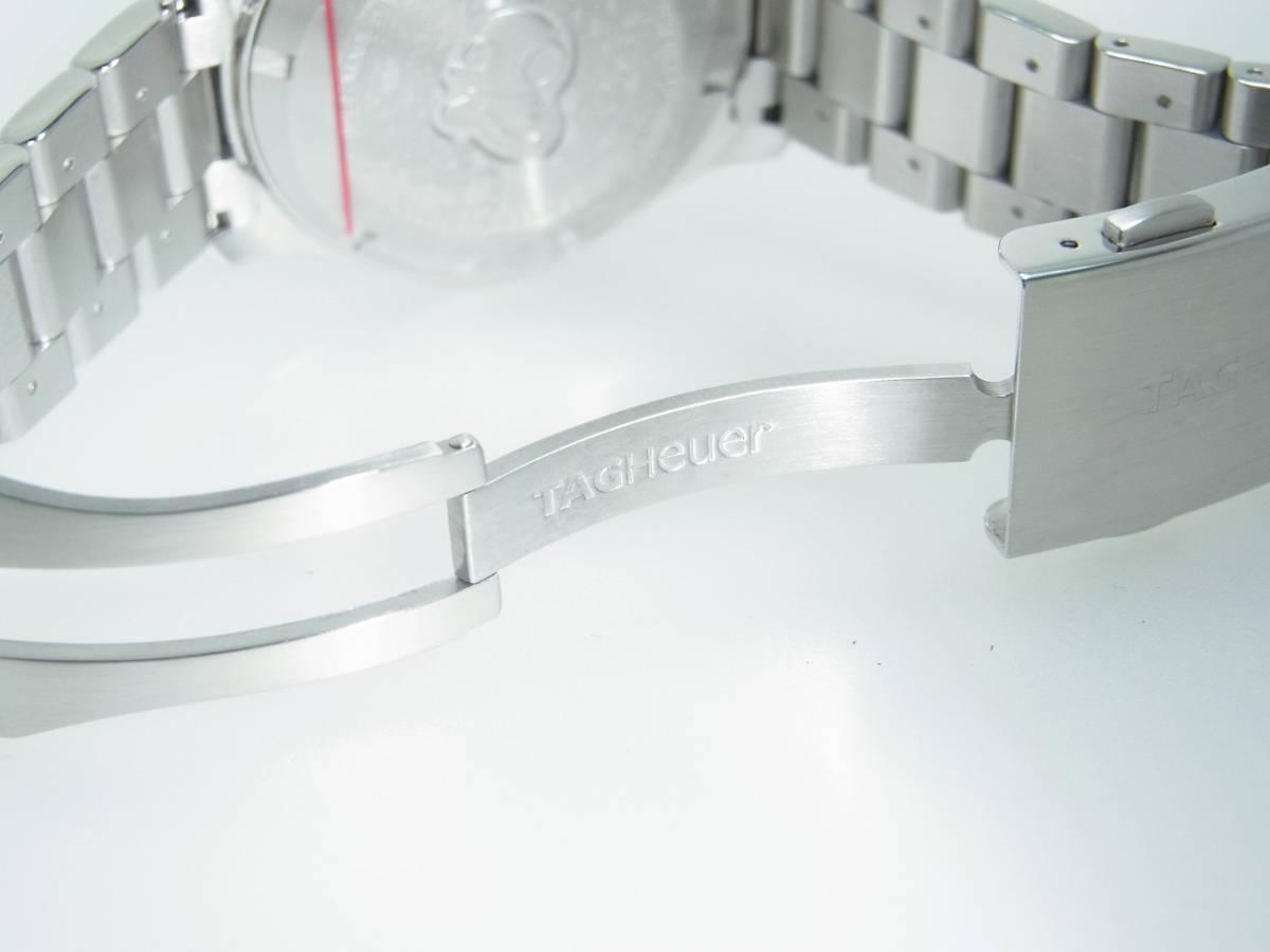 極美品 TAG HEUER タグホイヤー CAP2110 アクアレーサー クロノグラフ SS デイト 自動巻 メンズ 腕時計 キャリバー16 黒文字盤 稼働品   _画像10