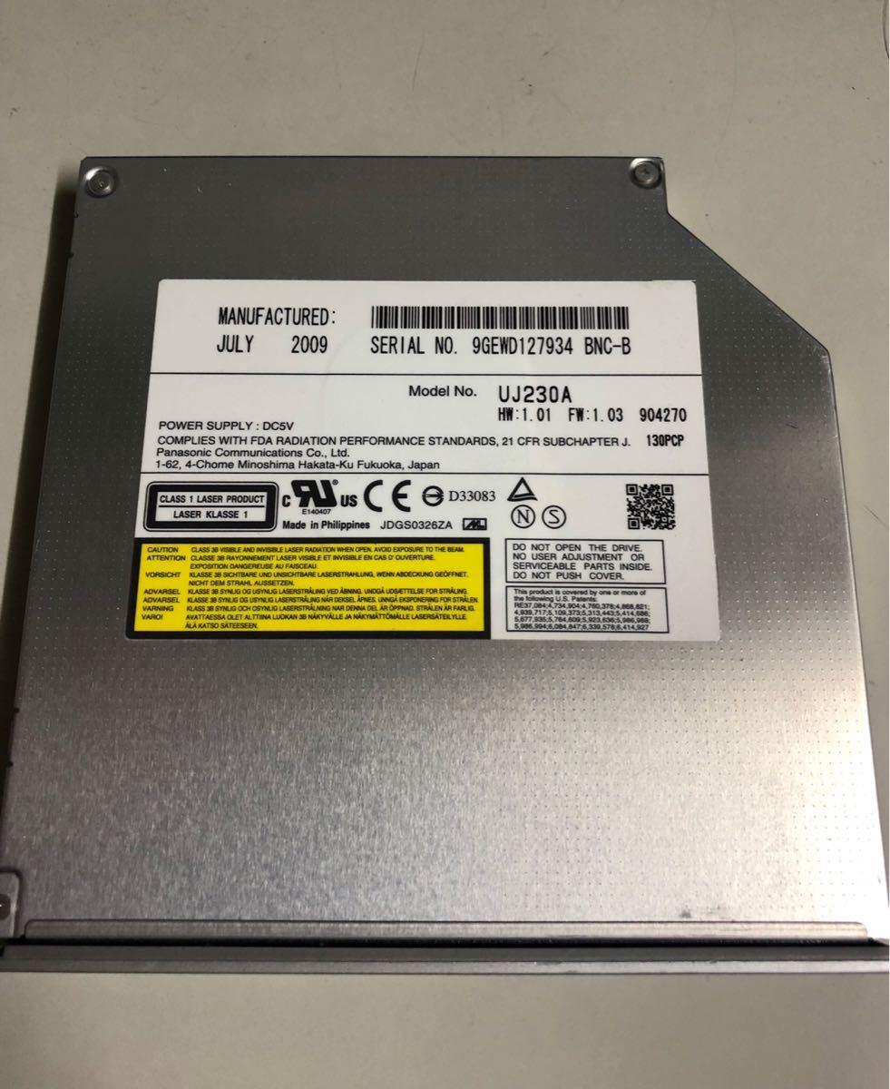 【中古パーツ】Panasonic blu-ray 内蔵ブルーレイドライブ BD UJ230A シルバー SATA 管:UJ230A シルバー_画像2