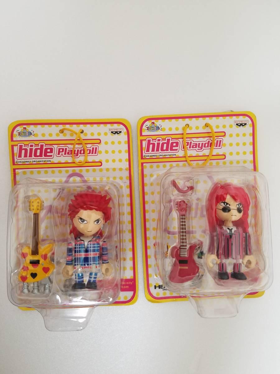 非売品 X JAPAN「hide でっかいぬいぐるみ 2019ver」「hideプレイドール2種」 「hideスピーカーフィギュア」セット_画像3