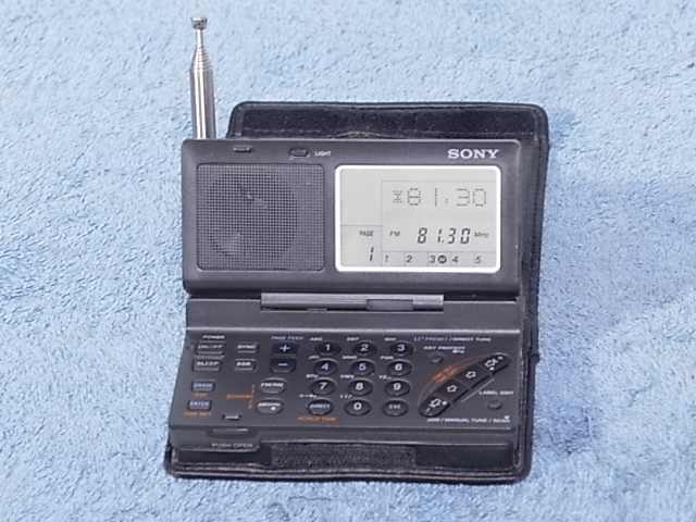 SONY ICF-SW100S 1997年の後に新しいヒンジバージョン - MK2シリーズ】★中古品 19071087
