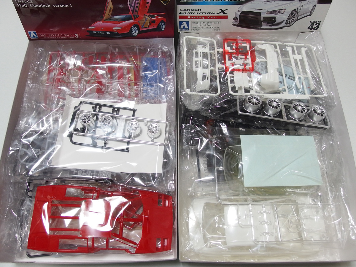 アオシマ 1/24 マツダスピードRX-7 GT-C R34 GT-R Z-tune C-WEST ランサーエヴォリューションⅩ ウルフカウンタック LP500 4点セット_画像4