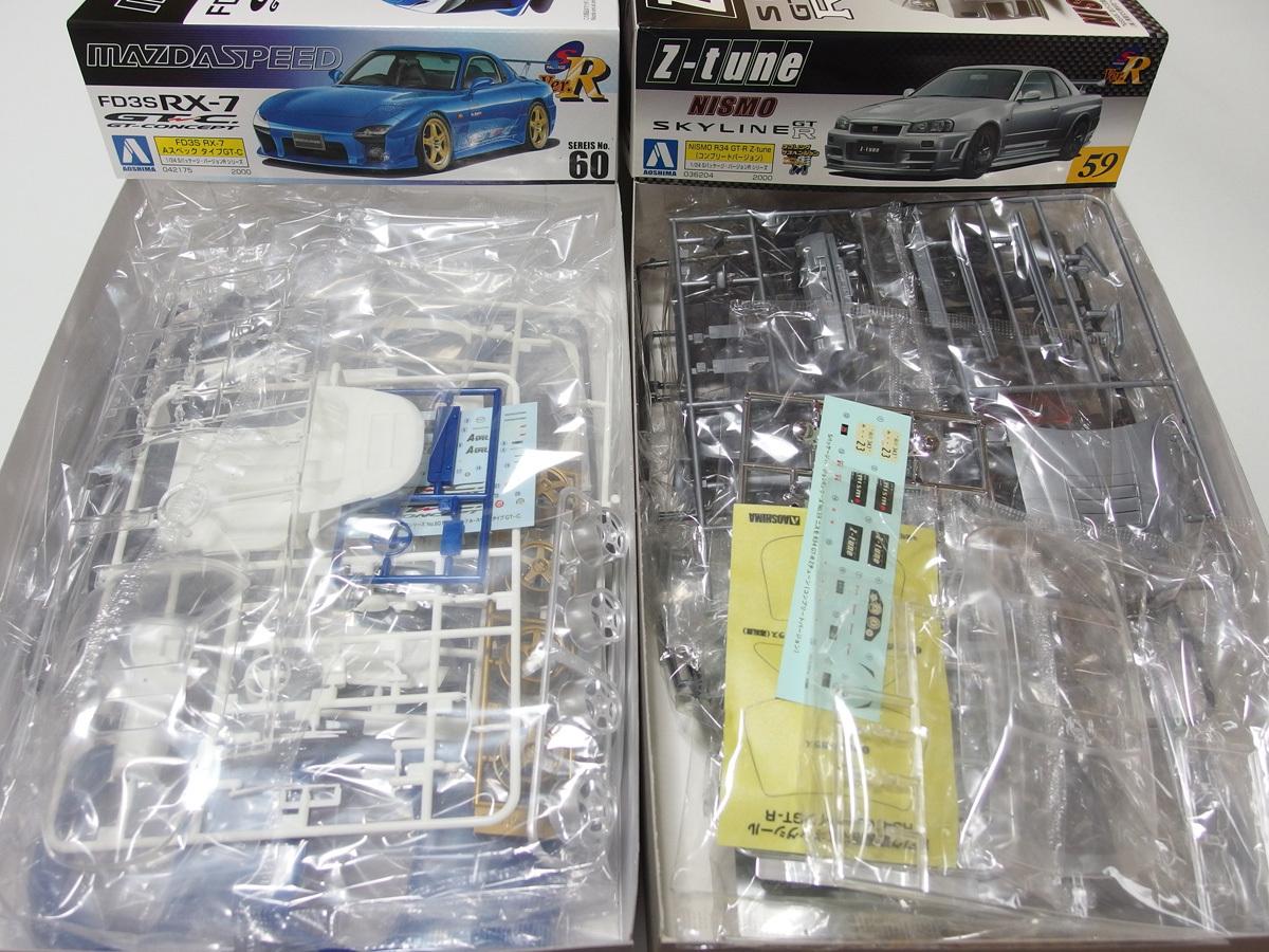 アオシマ 1/24 マツダスピードRX-7 GT-C R34 GT-R Z-tune C-WEST ランサーエヴォリューションⅩ ウルフカウンタック LP500 4点セット_画像5