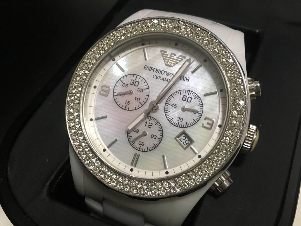 激安☆EMPORIO ARMANI エンポリオ アルマーニ メンズ腕時計 セラミカ ☆3点以上落札で送料無料☆