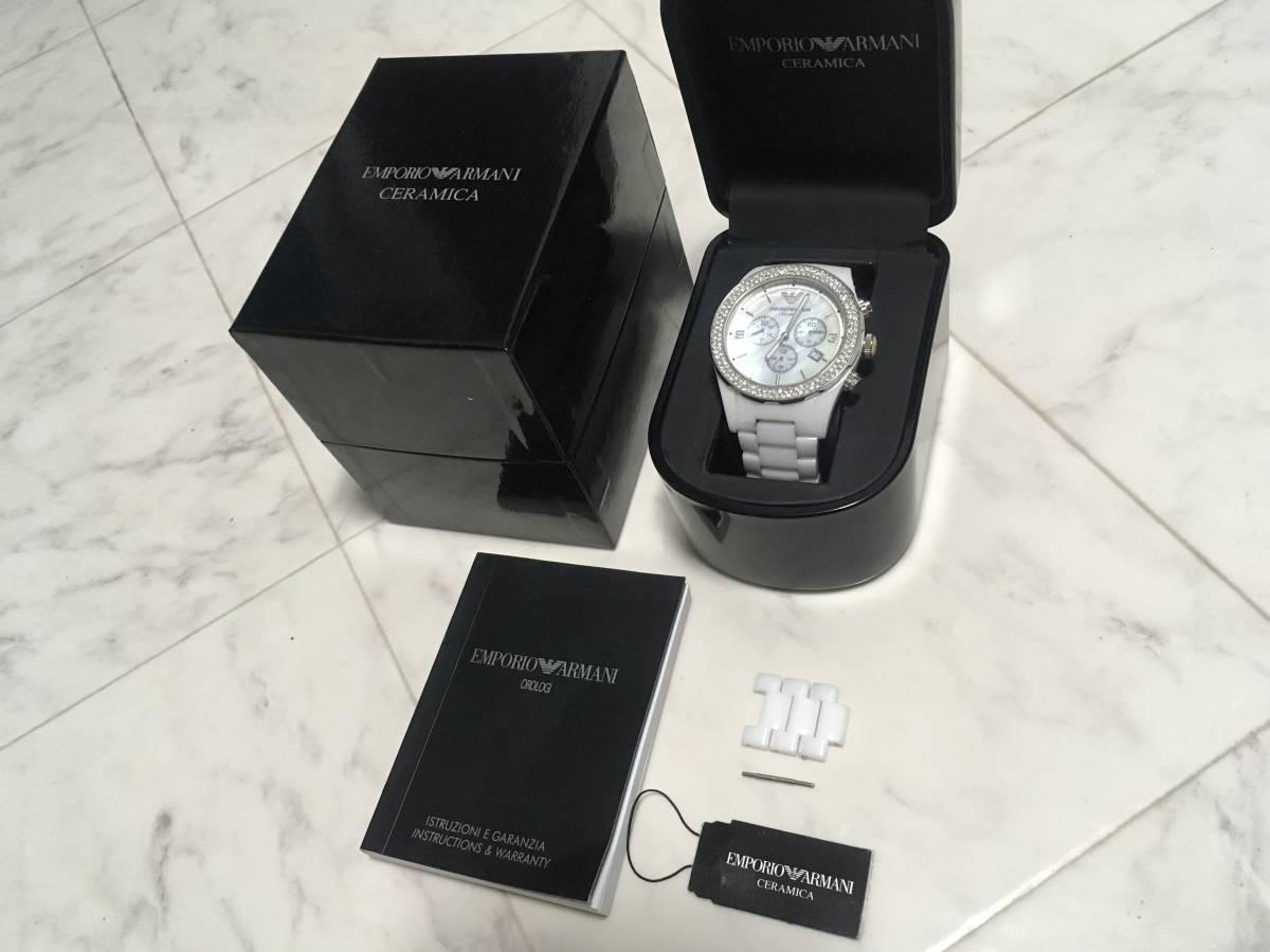 激安☆EMPORIO ARMANI エンポリオ アルマーニ メンズ腕時計 セラミカ ☆3点以上落札で送料無料☆_画像2