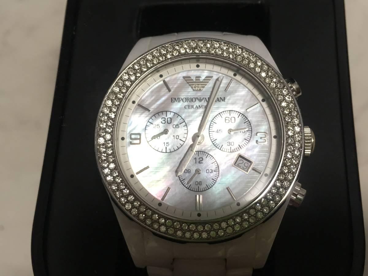 激安☆EMPORIO ARMANI エンポリオ アルマーニ メンズ腕時計 セラミカ ☆3点以上落札で送料無料☆_画像3