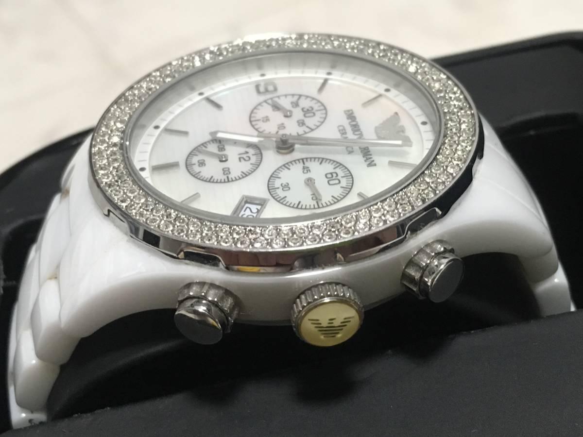 激安☆EMPORIO ARMANI エンポリオ アルマーニ メンズ腕時計 セラミカ ☆3点以上落札で送料無料☆_画像4