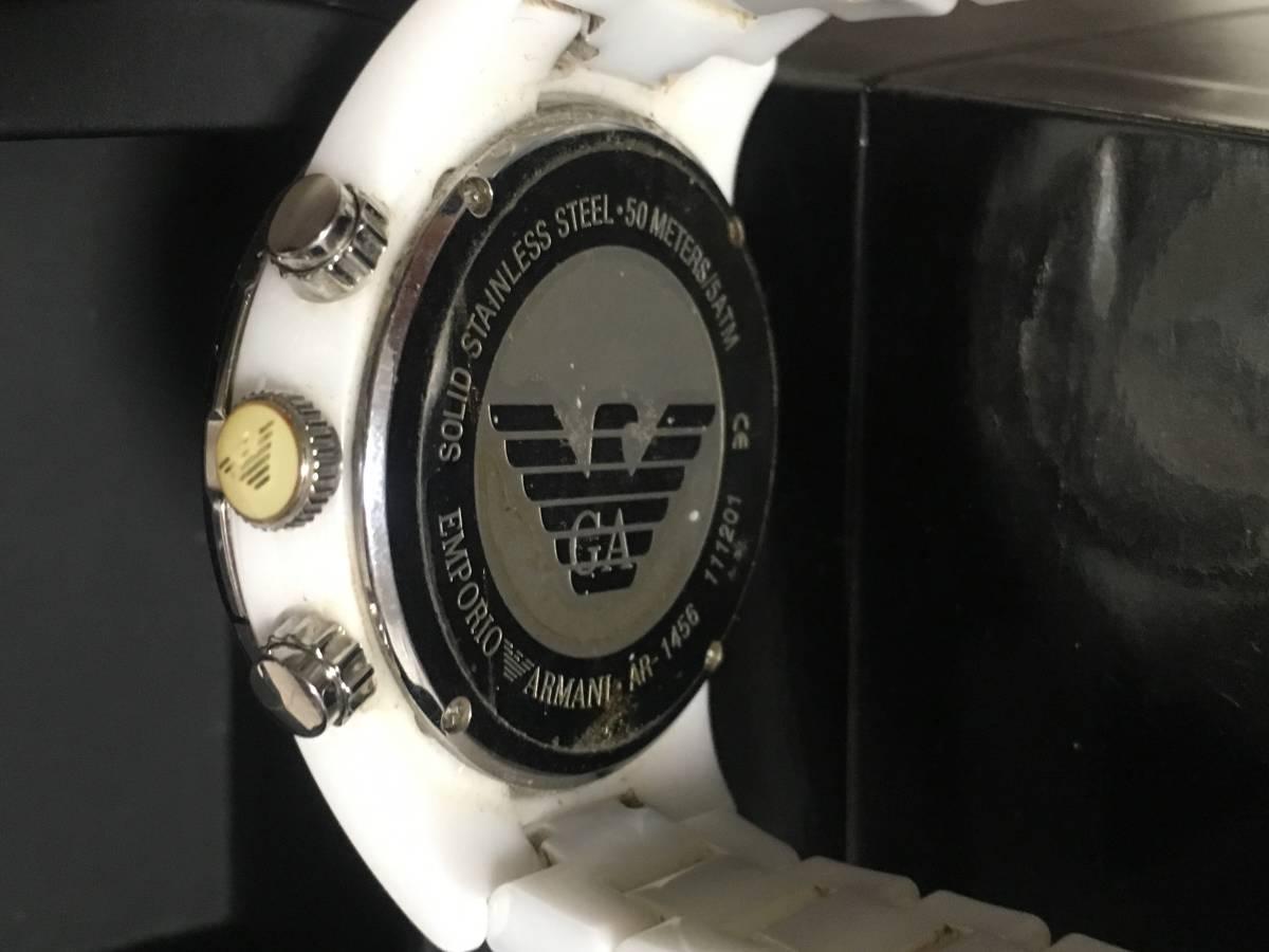 激安☆EMPORIO ARMANI エンポリオ アルマーニ メンズ腕時計 セラミカ ☆3点以上落札で送料無料☆_画像5