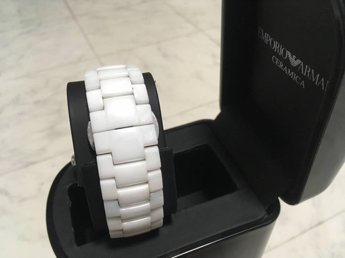 激安☆EMPORIO ARMANI エンポリオ アルマーニ メンズ腕時計 セラミカ ☆3点以上落札で送料無料☆_画像6