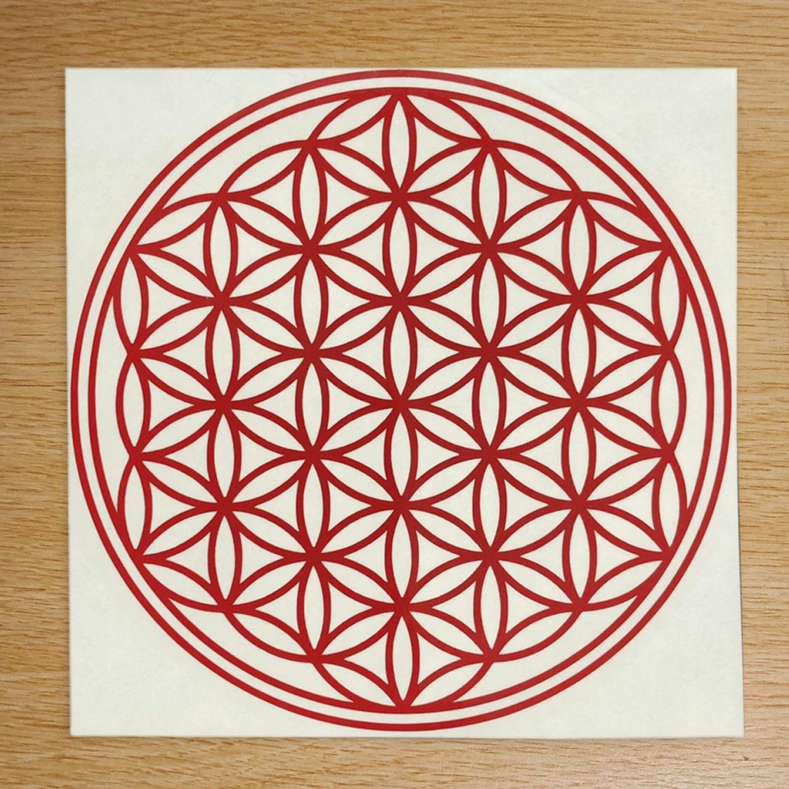 ●フラワーオブライフ 幾何学模様 「生命の花」運気向上 開運ステッカー 10色から選べる 701_画像1